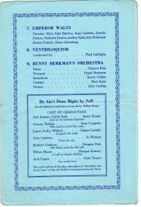 LIsgar Collegiate Institute, 31st Annual Concert, Jan 1943.