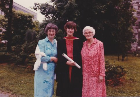 Me, with mother and grandmother. June 1982.