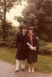Zouheir and Janet, Queen's Graduation, 1982.