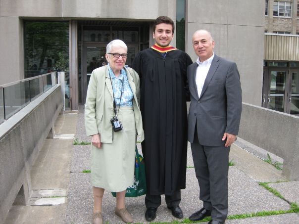 Professor Herzberg, Alex, Zouheir (proud father)