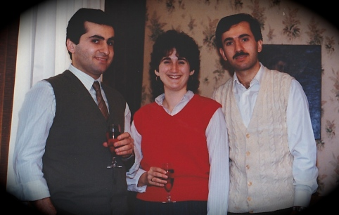 Jacques, me, Zouheir. Christmas 1984. Villeneuve-le-Roi, France