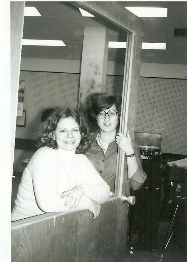 Kath and me in Glebe Music Room (1977ish)