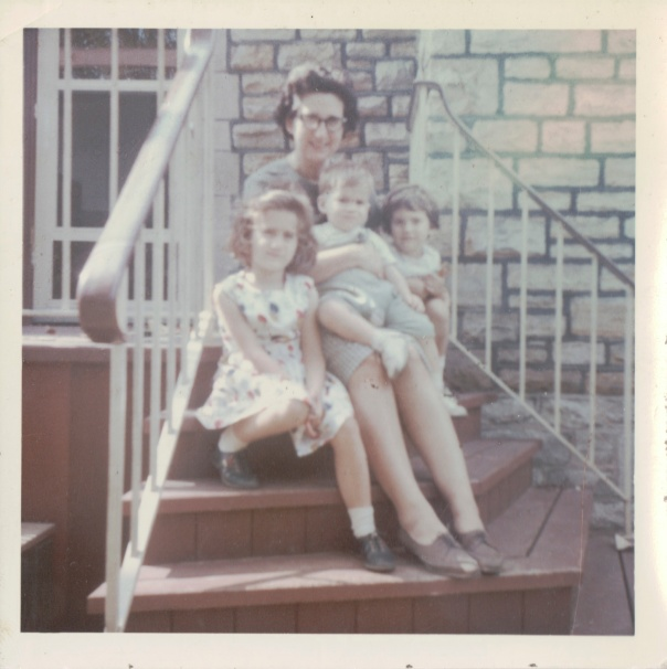 Dr Mom with the kids, June 1964