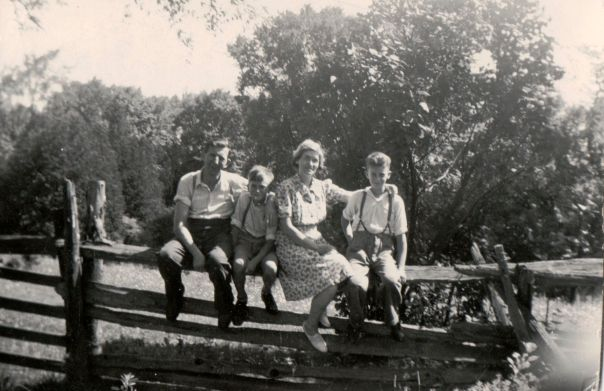 My grandparents William Gear, Daisy Goddard, and sons Ross and Bill.