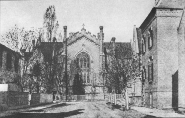 Holy Trinity Church on Trinity Square, Toronto, c 1870-5.