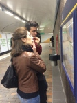 Marie-Louise and Alex study the Tunnelbana map.