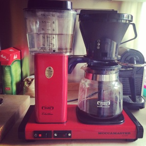 The coffeemaker in our apartment.