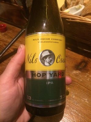 Local microbrewery Nils Oscar IPA.