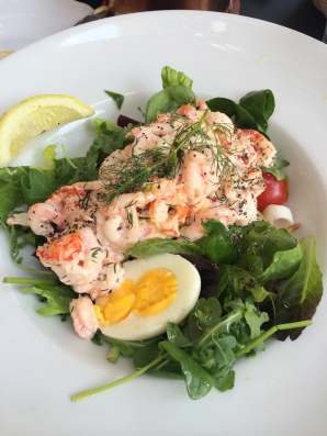 Shrimp salad lunch.