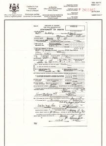 Statement of Death for David Berkman